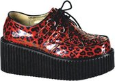 Demonia Creepers -36 Shoes- CREEPER-208 US 6 Rood/Zwart