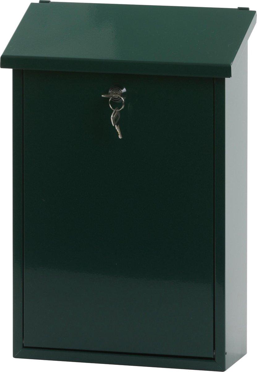 Stalen brievenbus groen - 40x25x10 cm