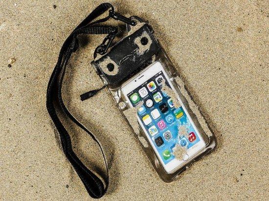 Waterdichte telefoonhoes voor Kazam Thunder2 5.0 met audio / koptelefoon doorgang, zwart , merk i12Cover