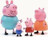 Peppa Pig Familie - Complete Gezin Peppa Pig - 4 stuks