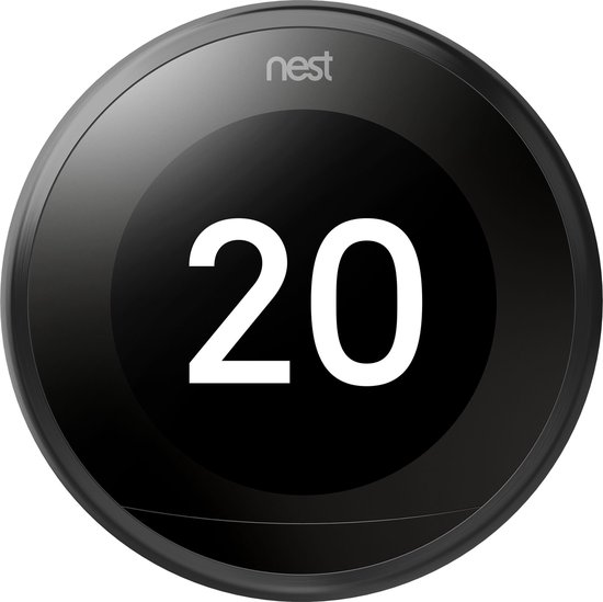 Google Nest Learning Thermostat - Slimme thermostaat - Zwart