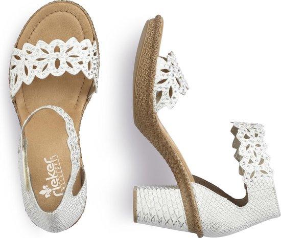 Rieker sandalen gekleed Wit BIwmHa4W