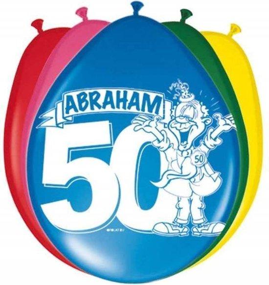 Folat - Ballonnen - 50 Jaar - Abraham - 30cm - 8st.