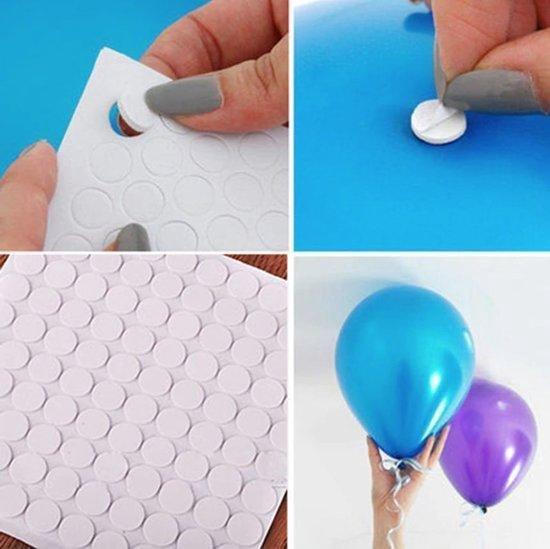 4 x 100 Ballon stickers | Plafond stickers | Muur stickers | Ballon plakkers | Ballonnen ophangen aan het plafond of aan de muur