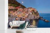 Fotobehang vinyl - Het kleurrijke dorp van Manarola in Cinque Terre breedte 420 cm x hoogte 280 cm - Foto print op behang (in 7 formaten beschikbaar)