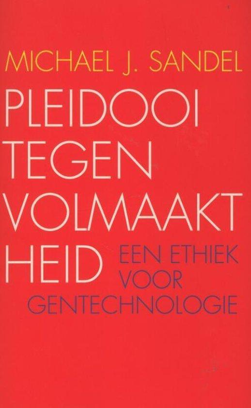Boek cover Pleidooi tegen volmaaktheid van Michael J. Sandel (Paperback)