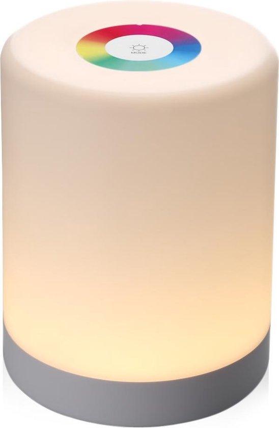 Portable LED Lamp Draadloos Nachtlampje Sfeerlicht met Dimmer RGB