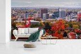Kleurrijke skyline van de stad Boise in de Verenigde Staten fotobehang vinyl breedte 605 cm x hoogte 340 cm - Foto print op behang (in 7 formaten beschikbaar)
