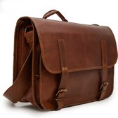 Johnny Fly Leren Camera Tas - bruin - ecologisch