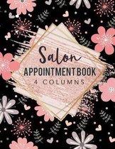 Salon Appointment Book 4 Columns