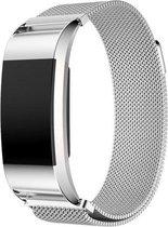 Milanees bandje Zilver - geschikt voor Fitbit Charge 2