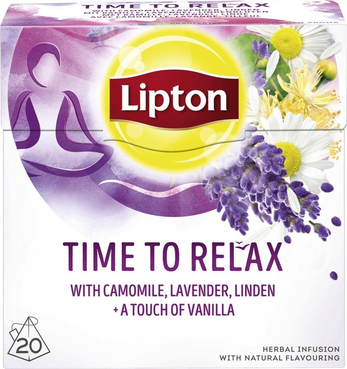 Lipton Time to Relax Kruiden Infusie - 6 x 20 theezakjes