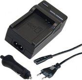 Oplader voor JVC BN-V408U, BN-V416U, BN-V428U Camera Accu / Acculader / Thuislader + Autolader