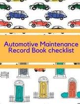 Automotive Maintenance Record Book checklist