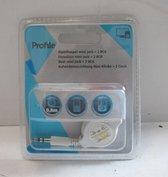 Profile oprolhaspel mini jack > 2 RCA