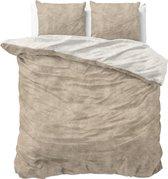 Sleeptime Flanel Twin Washed Cotton Dekbedovertrekset - Lits-Jumeaux - 240 x 200/220 + 2 kussenslopen 60x70 - Taupe