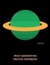Saturn Print Handwriting Practice Workbook