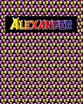 120 Page Handwriting Practice Book with Colorful Alien Cover Alexander