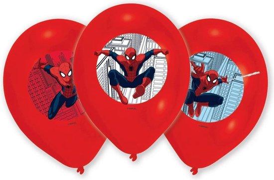 Spiderman Ballonnen Versiering 28cm 6 stuks
