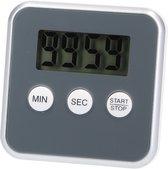 Digitale Timer Donkergrijs – 8x8cm | Timer voor Koken | Kookwekker met Magnetisch Bevestigingssysteem