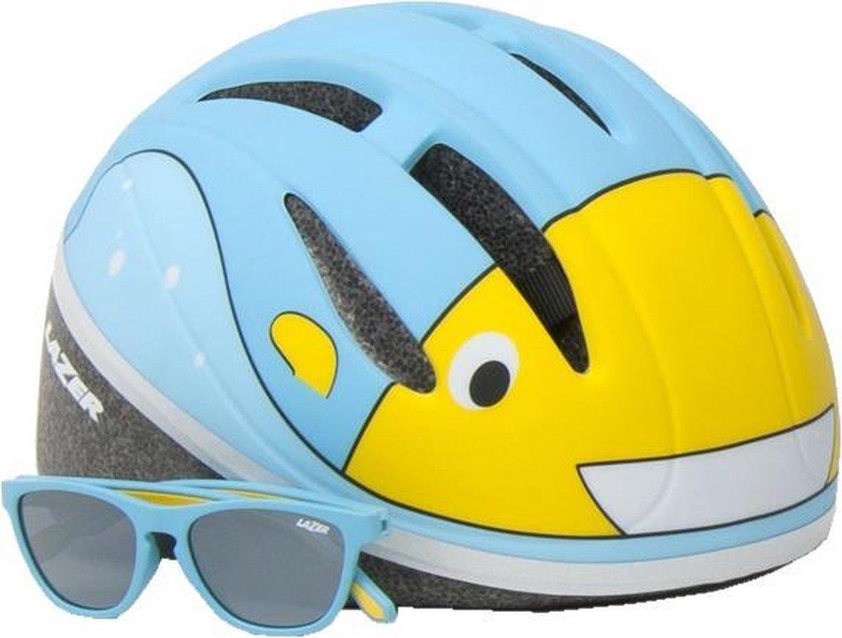 Lazer Kinderhelm Blub Met Zonnebril Junior 46-52 Cm Lichtblauw