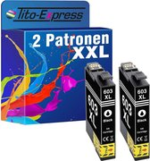 Tito-Express Platinum Series 2 cartridges TE-603XL compatibel met Epson Zwart 17ml XXL-inhoud