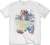 The Beatles Heren Tshirt -XL- Yellow Submarine Vintage Movie Poster Wit