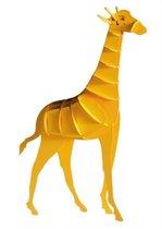 3D puzzel en/ of bouwpakket giraffe van hout