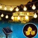 J-Pro Tuinverlichting op Zonne-Energie - 50 Solar LED 7m - Cristal Lichtslinger ø2,5cm - Lichtsnoer