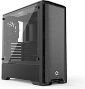 MetallicGear Neo Silent Mid-tower ATX chassis, Silent front panel design, Black