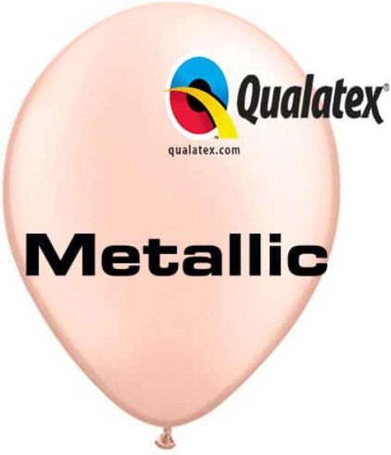 Ballonnen Metallic Perzik 30 cm 100 stuks