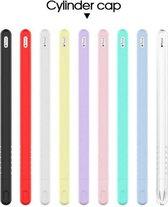 DrPhone P2 - Stylus Pencil Siliconen Case – Geschikt voor Apple Pencil 2 – Beschermhoes – Voor iPad Pro 12.9 2018 & iPad Pro 11 2018 – Ultra-Dun – Anti-Slip – Wit