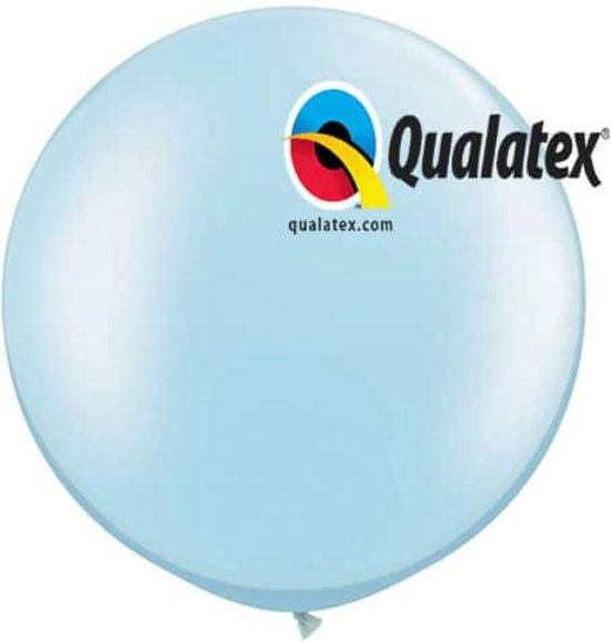Megaballon Pearl Lichtblauw 95 cm 2 stuks