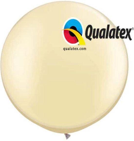 Megaballon Pearl Ivoor 95 cm 2 stuks