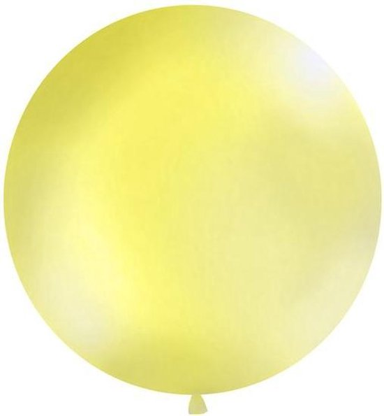 Ballonnen 1m, round, Pastel yellow