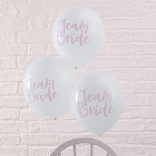 Ballonnen - 'Team Bride' - 10 stuks