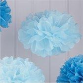 Pom Poms Blauwe Tinten - 5 stuks