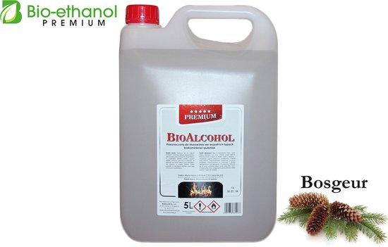 Premium -Bio-ethanol met Bosgeur - Bioethanol - 100% biobrandstof -(5 liter)