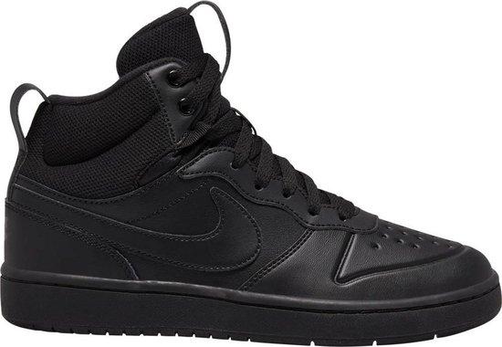 Nike Court Borough Mid 2 Boot (Gs) Heren Sneakers - Black/Black-Black - Maat 37,5