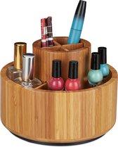 relaxdays make up organizer bamboe - make up houder - cosmetica organizer - draaibaar