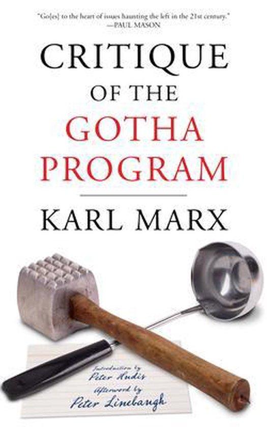 Boek cover Critique Of The Gotha Program van Karl Marx (Paperback)