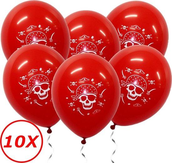 Halloween Versiering Decoratie Helium Ballonnen Feest Versiering Halloween Accessoires Ballon Rood Piraat – 10 Stuks