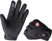 Handschoenen   touchscreen   waterdicht   fleece   unisex   zwart   maat L