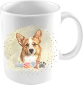 Diver Pet Honden Mok - Corgi Mok - Mok met Hond - Hondenliefhebber Cadeau - 325ml