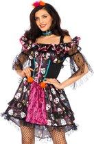 LEG-AVENUE - Dia de los Muertos pop kostuum voor vrouwen - M/L - Volwassenen kostuums