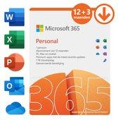 Microsoft 365 Personal - 12 + 3 maanden extra abonnement - NL  (download)
