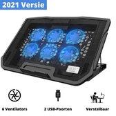 Zenzlife Universele Laptop Cooler   6 Krachtige ventilatoren   Cooling Pad   Laptophouder   12'' Tot 17 inch   Laptop Koeler
