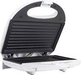 Tristar Tosti ijzer - Sandwich toaster - Tosti-ijzer Compact grill 750W - Tosti apparaat Wit
