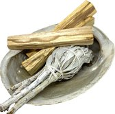 Reinig je huis pakket Soulfloating - Smudge Kit - Witte salie - Palo Santo sticks, Abalone schelp - incl. handleiding NL - voor energetische reiniging - original