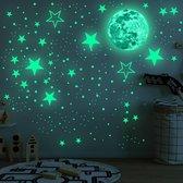 The Life Style Goods - Glow in the Dark Sterren - 442 stuks - Glow in the Dark Stickers - Muurstickers Kinderkamer - Zelfklevend